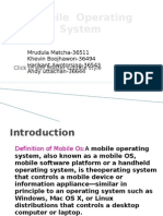 Mobile Phone Operating System Ppt