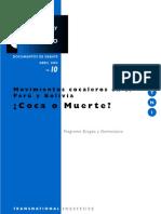 Drogas y Conflicto, nº 10, 2004 - Movimientos cocaleros en el Perú y Bolivia