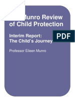 MUNRO the Munro Review of Child Protection Interim Report the Child's Journey