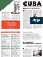 Cuba Libertaria, nº 01, febrero 2004 - Bibliotecas independientes
