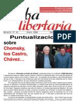 Cuba Libertaria, nº 14, enero 2010 - Puntualizaciones sobre Chomsky, Castro...