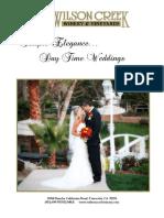 Brochure Wilson Creek Weddings Daytime