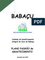 BABAÇU Plano Abastecimento Babaçu