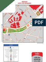 Bruxelles - Plan STIB 2011 - Quartier Hotel Des Monnaies