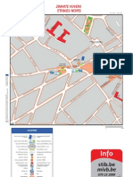 Bruxelles - Plan STIB 2011 - Quartier Etangs noirs
