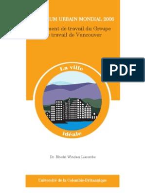 La Ville Ideale Développement Durable Canada