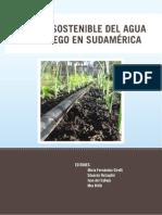 Manejo Sostenible Del Agua Para Riego en Sudamerica