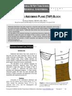 TRANSVERSUS ABDOMINIS PLANE (TAP) BLOCK