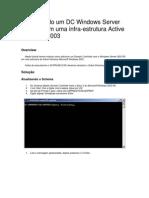 Adicionar DC e Implementar o Windows Server 2003