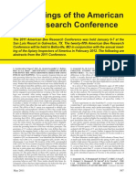 Proceedings of the American Bee Research Conference - May 2011 ABJ