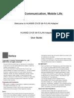 D105 Wi-Fi_LAN Adaper User Guide