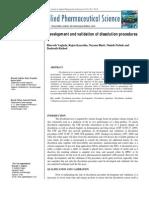 Development and Validation of Dissolution Procedures