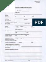 Product Complaint Report