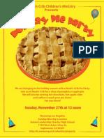 Flyer PieParty 8x10