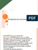 EMISIÓN DE ACCIONES