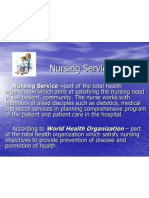 Nursing Service - Power Point