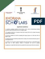 Khorana Application