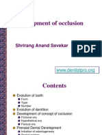 Development of Occlusion