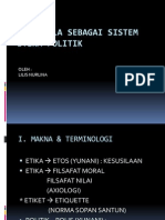 Pancasila Sebagai Sistem Etika Politik