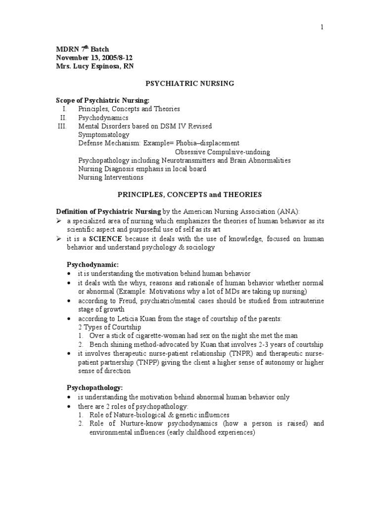 Psychiatric Nursing Psychotherapy Psychiatric And Mental
