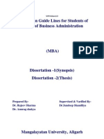 Correct Dissertation Guidlines