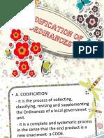Codification of Ordinances
