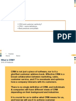 CRM and Customer Centricity