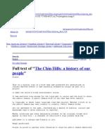 The Chin Hills History