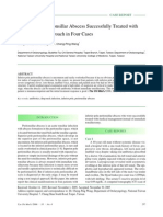 Inferior Pole Peritonsillar Abscess Successfully Treated