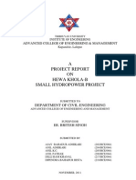 Hewa Khola-b Small Hydro Power Project Pre Feasibility Study Report