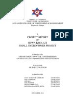 Hewa Khola-b Small Hydro Power Project Pre Feasibility Study Report