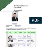 Daftar Menteri Komunikasi Dan Informatika Indonesia