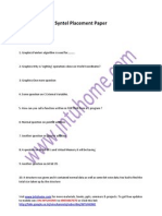 Syntel Placement Papers Free Download 2011 Questions and Answers