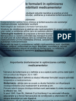 Implicatiile Formularii in Optimizarea Biodisponibilitatii Medicamentelor