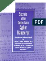 Poke Runyon - Secrets of the Golden Dawn Cypher Manuscript