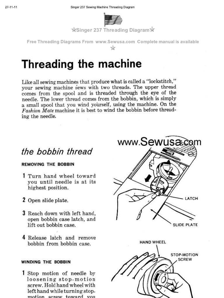 Singer 237 Threading Diagram Trusted Wiring Sewing Machine Merritt 3130