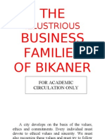 The Illustrious Enterprising Business Families of Bikaner