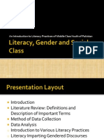 Literacy Practices, Gender and Social Class