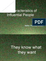 Characteristics of Influential People