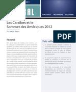 FOCAL - Les Caraïbes et le  Sommet des Amériques 2012