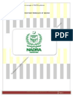 Job specification and job description of NADRA manager