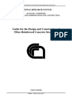IstruzioniCNR DT204 2006 Eng -- Guide for the Design and Construction of Fiber-Reinforced Concrete Structures