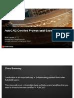 v1_AutoCAD Certification Preparation - Professional