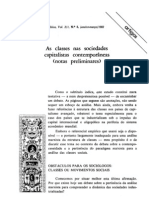 Fernando Henrique Cardoso - As Classes Nas Sociedades Capitalist As Contemporaneas - REP1982