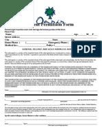 Oasis Event Permission - Online Form