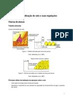 Máquinas de mobilização do solo e suas regulações