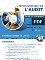 L'ADMINISTRATION DE L'AUDIT