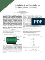 Simulação de motor CC e controle com PID de velocidade