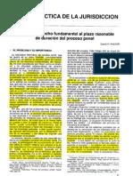 Acerca del Derecho Fundamental al plazo razonable de duración del proceso penal - Pastor