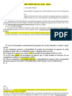 TRIBUTÁRIO- REVISÃO OAB - EXAME UNIFICADO - 2010.1 - COM RESPOSTAS
